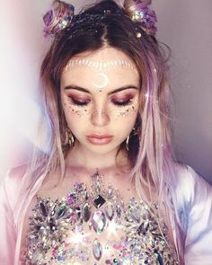 Festival glitter Inspiration - make up of the day
