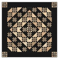 Black, Tan And Cream Quilt