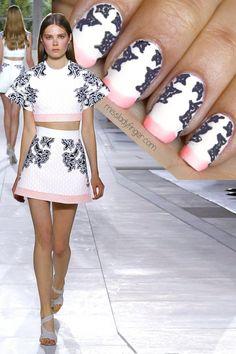 Balenciaga Spring '14 #nail #nails #nailart