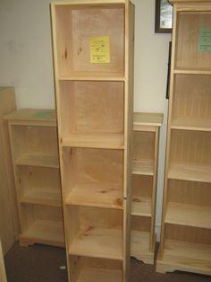 Gentil AMISH Unfinished Pine ~ 5 Cube Storage Shelf Bookcase