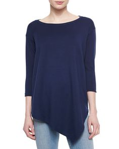 Asymmetric Boat-Neck Top, Navy by Soft Joie at Neiman Marcus.