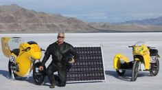 Solar-Powered Motorcycle Attempts Land Speed Record