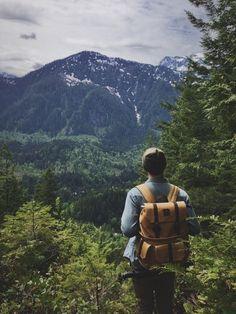 Trekking through the mountains
