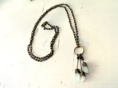 Green Jade stone Necklace, boho necklace , Love stone  Statement necklace on Etsy, $39.00