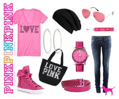 by xoshevanel for the Polyvore Club Pink fashion show contest