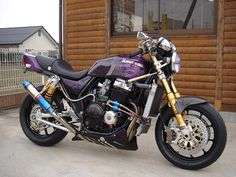 2007 Kawasaki ZRX400 purple Kawasaki Cafe Racer, The Big Four, Honda Cb, Royal Enfield, Harley Davidson, Bike, Vehicles, Scrambler, Scooters