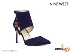 MONEYBACK MEXICO. The Trustme pointy toe pumps have a decidedly edgy attitude thanks to the hooded cuff that takes them from classic to cutting edge. Four-buckle detail. Back zipper entry makes putting Trustme on and taking it off a breeze. Shop Nine West in Mexico and get a Moneyback tax refund! #moneyback www.moneyback.mx
