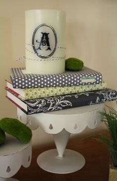 Re-purposing and re-covering old books, love to #DIY