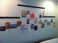 Hanging postcard display