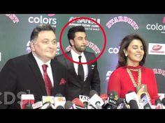Ranbir Kapoor Embarrassed Of Father Rishi Kapoor At Stardust Awards 2016 - YouTube