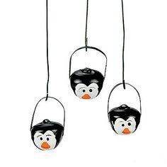 Penguin Jingle Bell Ornaments