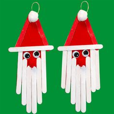 Santa claus in wooden sticks idea, DIY, decoration, idea … - Learn and teach you Fall Crafts, Holiday Crafts, Diy And Crafts, Holiday Decor, Holiday Ideas, Outdoor Christmas, Christmas Holidays, Christmas Mason Jars, Christmas Ornaments