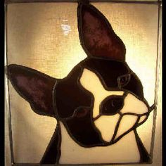 Boston Terrier  suncatcher