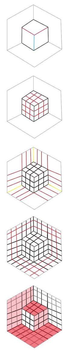 artisan des arts: Optical illusion cube - tutorial