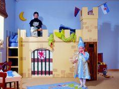 Kinderhochbett als Ritterburg