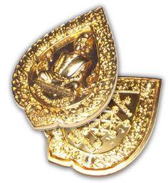 Rian Pat Yod Boran - Nuea Rakang Chup Tong with Gold Plating - Luang Phu To Wat Pradoo Chimplee 125th Anniversary Edition - Wat Tham Singto Tong with 125 Monks Blessing | $86.00