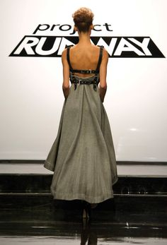 Project Runway Season 11 - the cities challenge - Michelle - back of dress