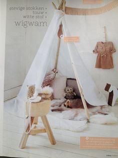 Tent playtent wigwam in de kinderkamer