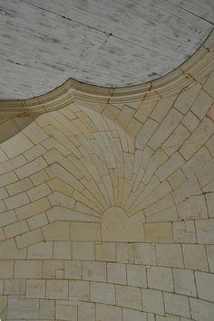 Perfection de la taille en stéréotomie, salle des Girondins (XVIIIe), phare de Cordouan, Le Verdon-sur-Mer, Médoc, Gironde, Aquitaine, France. | par byb64