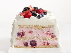 Lemon-Berry Icebox Cake : Icebox cake is the perfect make-ahead dessert, especially when it's too hot to turn on the oven. This recipe for lemon cookie cake with berry cream cheese filling will come in handy for many future summer BBQs.