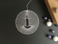 Lace Heart, Lace Jewelry, Lace Making, Bobbin Lace, Lace Detail, Dog Tag Necklace, Butterfly, Stars, How To Make