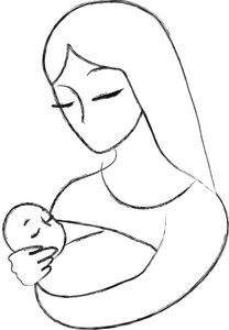 mother and baby clipart - Google Search