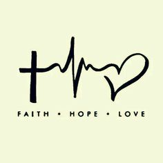 Faith-Hope-Love cute idea for a tattoo.