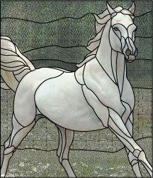 white horse design pattern