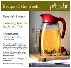 Showcase the beauty of Flowering Jasmine Tea in your Flavor It™ Pitcher #recipe