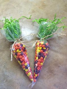 Candy Carrots - for your virtual Easter basket, lol!