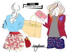 Storie: Elisa Zini aka Easy As Me e le eleganti illustrazioni disegnate con l'iPad