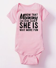 Another great find on #zulily! Light Pink 'More Fun' Bodysuit - Infant #zulilyfinds