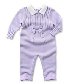 This Purple Ribbon Playsuit - Infant by Little Youngster is perfect! #zulilyfinds