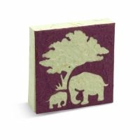 This hard cover journal makes for a great sketch book, journal or diary.  The inside pages are smooth and easy to write or draw on. Product comes with a neat little mini booklet / product tag with all sorts of interesting facts about African and Asian elephants.  POOPOOPAPER™ is acid-free, lignin-free and of archival quality.  While quantities last.    Price: $4.99