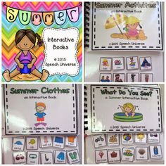 Speech Universe: Summer Interactive Books! Pinned by SOS Inc. Resources. Follow all our boards at pinterest.com/sostherapy/ for therapy resources.