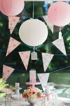 Pink & Fluffy Tea Party Birthday Decor by ©Bakingdom