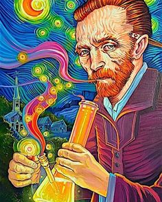 5,320 vind-ik-leuks, 208 reacties - Creep Machine Magazine (@creepmachine) op Instagram: 'A day late but yesterday was the 163rd birthday to Vincent Van Gogh. Here is a piece by Dave…'