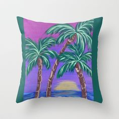 Vacation Throw Pillow by HeartsandKeys - $20.00