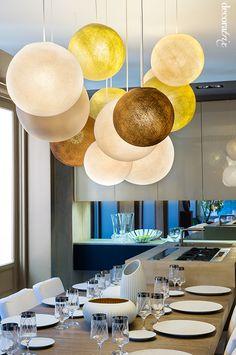 Lámparas de techo en Casa Decor 2014: comedor Isabel Laranjinha