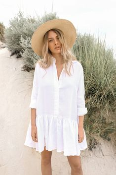 Morton Mac Lotte White - Fitish Shirt - ideas of Fitish Shirt - Lotte White Boho Fashion, Fashion Outfits, Womens Fashion, Mode Boho, Summer Outfits, Summer Dresses, Cotton Dresses, Designer Dresses, White Dress