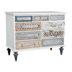 GuildMaster 643525 Mosaic 48 Inch Wide 9 Drawer Mahogany (Brown) Dresser