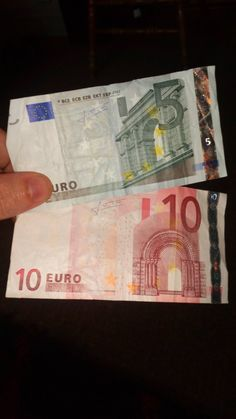 DO YOU HAVE A 5 OR 10 EURO NOTE THAT DOUBLE'S IN PRICE NOW ?