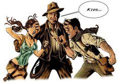 Indiana Jones, Lara Croft and Nathan Drake lol perfect xD