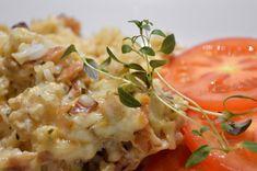 Ris och baconlåda med vitlök 4 Risotto, Potato Salad, Bacon, Food And Drink, Pasta, Ethnic Recipes, Detox, Twins, God