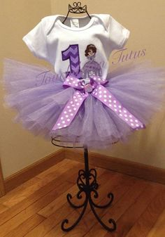 Sofia The First inspired tutu birthday outfit  by TouchdownTutus