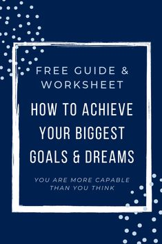 Do you dream big, but they seem lofty, unattainable and you are not sure how to ever accomplish them? Would a roadmap to success be helpful if it could be tailored to you and broken down into bite-size steps? Achieve Your Goals, Bite Size, Dream Big, Timeline, Letter Board, Worksheets, Thinking Of You, Dreaming Of You, You Got This