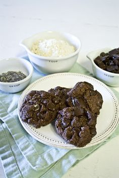 A Sweet & Salty Life: Cocoa Lavender Cookies