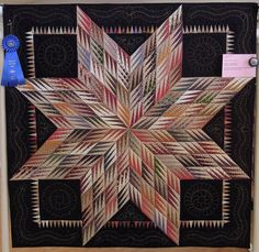 Fractured Star by Linda Bergmann, quilted by Debbie Lopez.  Made with Civil War reproduction fabrics. Photo by Quilt Inspiration