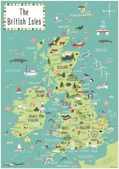 British isles map - Bek Cruddace