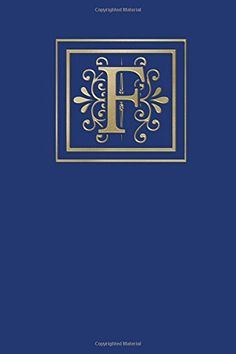 Ruled Monogram Journal F